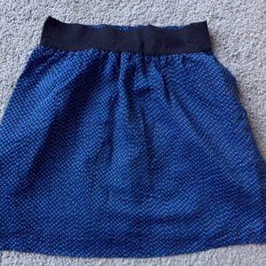 NWT Brooklyn Industries Blue Dot Mini Skirt